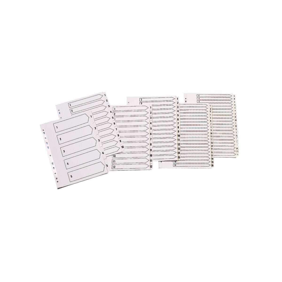 Q-Connect 1-5 A4 Multi-Punched Reinforced Divider White