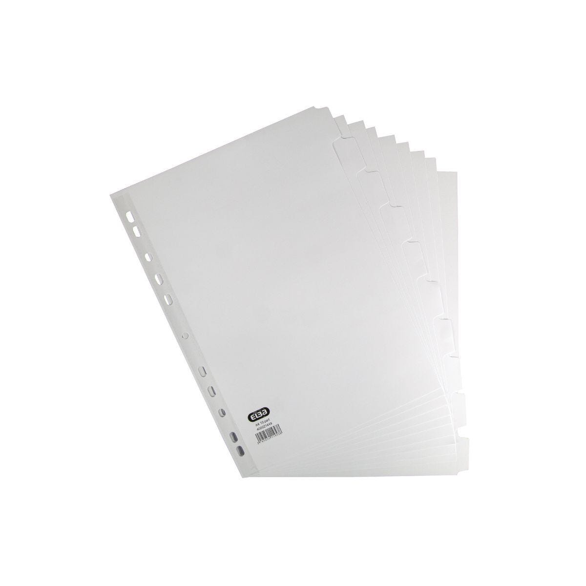Elba 10 Part Dividers A4 White