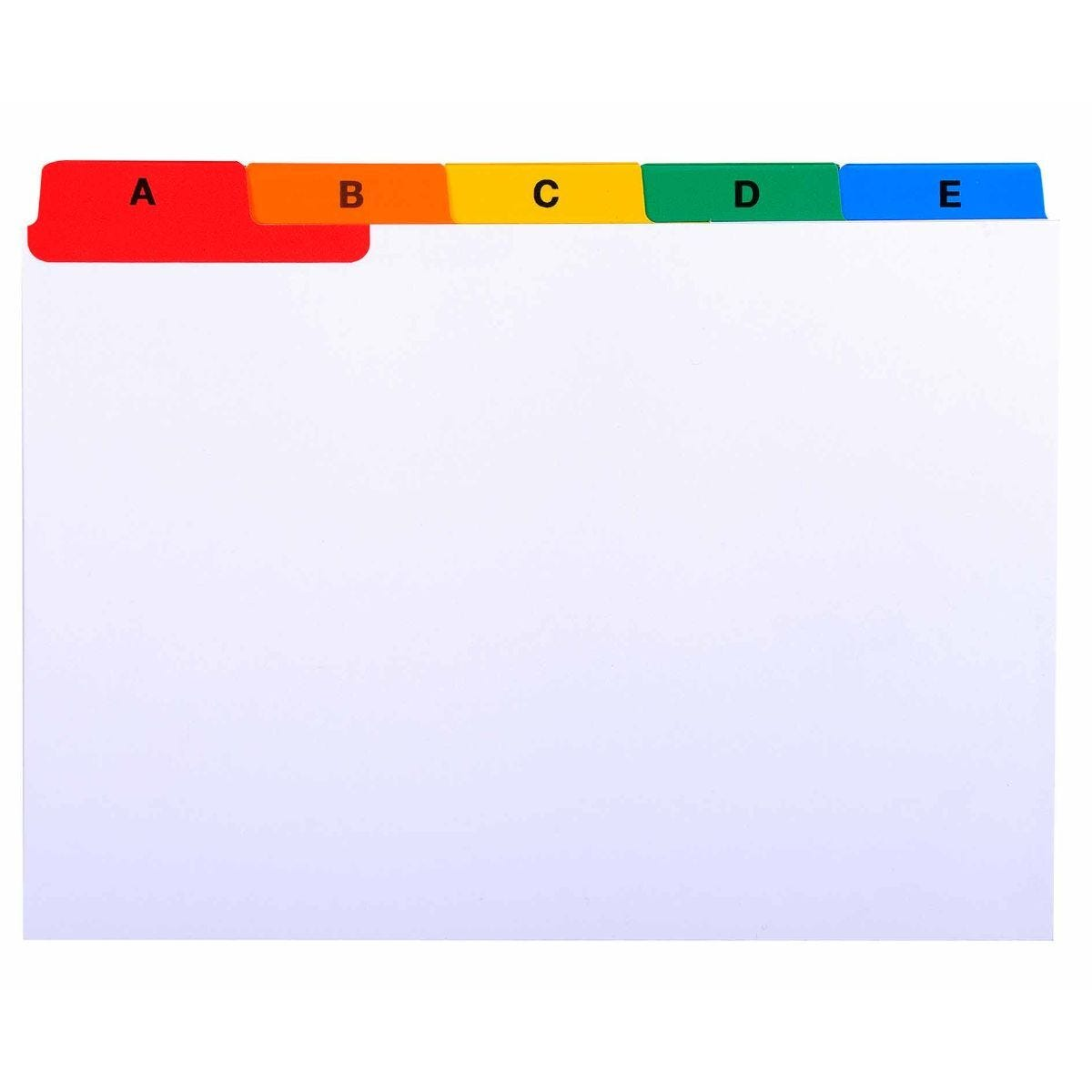 Exaclair Record Cards A-Z A6 160gsm Pack of 10
