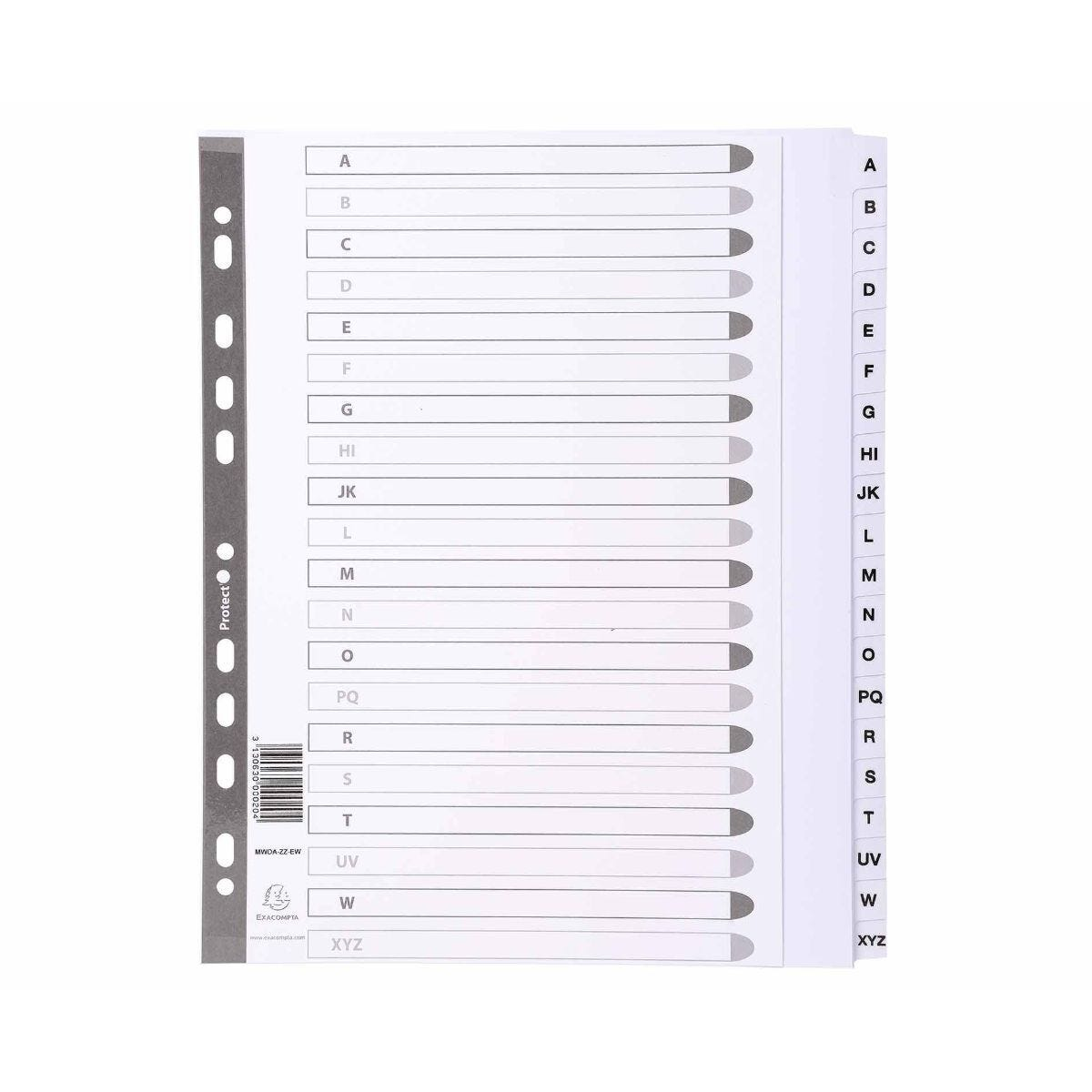 Exacompta Dividers A-Z A4 Maxi 160gsm Pack of 15
