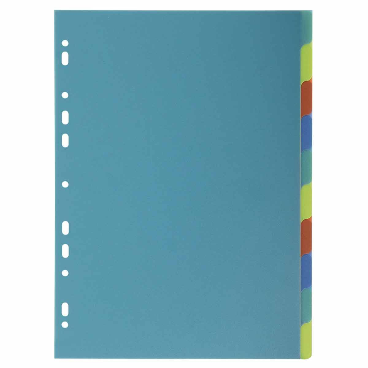Exacompta Forever Dividers 10 Part A4 Pack of 15 Assorted