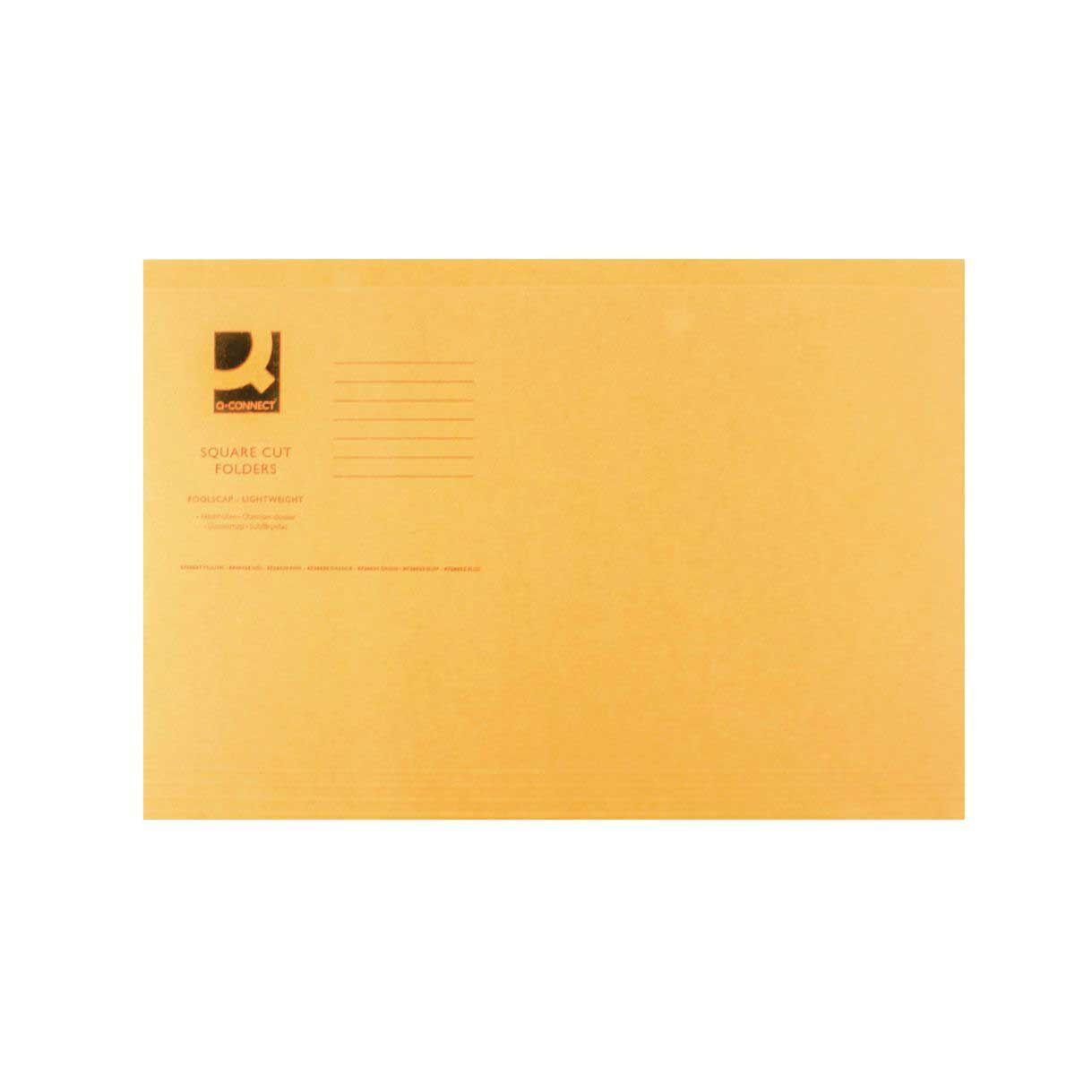 Square Cut Folder 180gsm Foolscap Orange