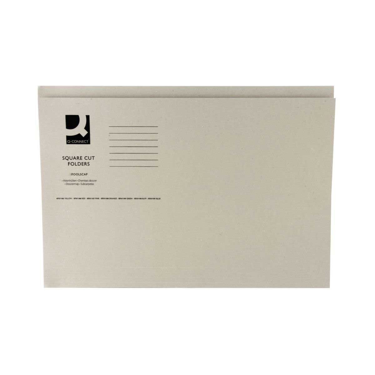 Square Cut Folder 180gsm Foolscap Buff