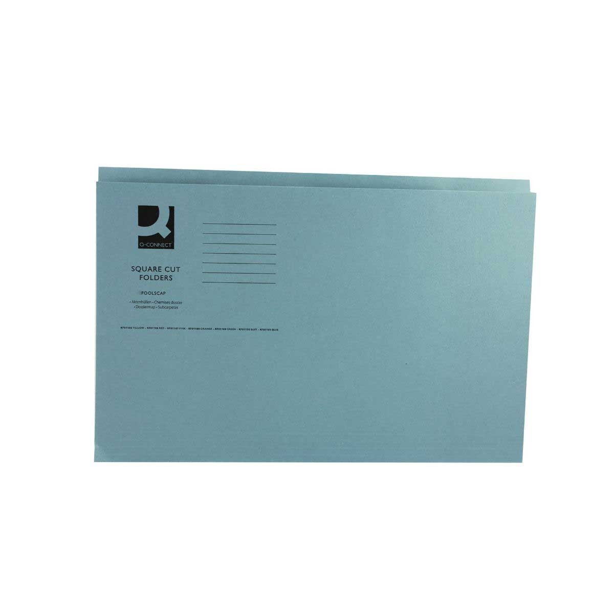 Square Cut Folder 180gsm Foolscap Blue
