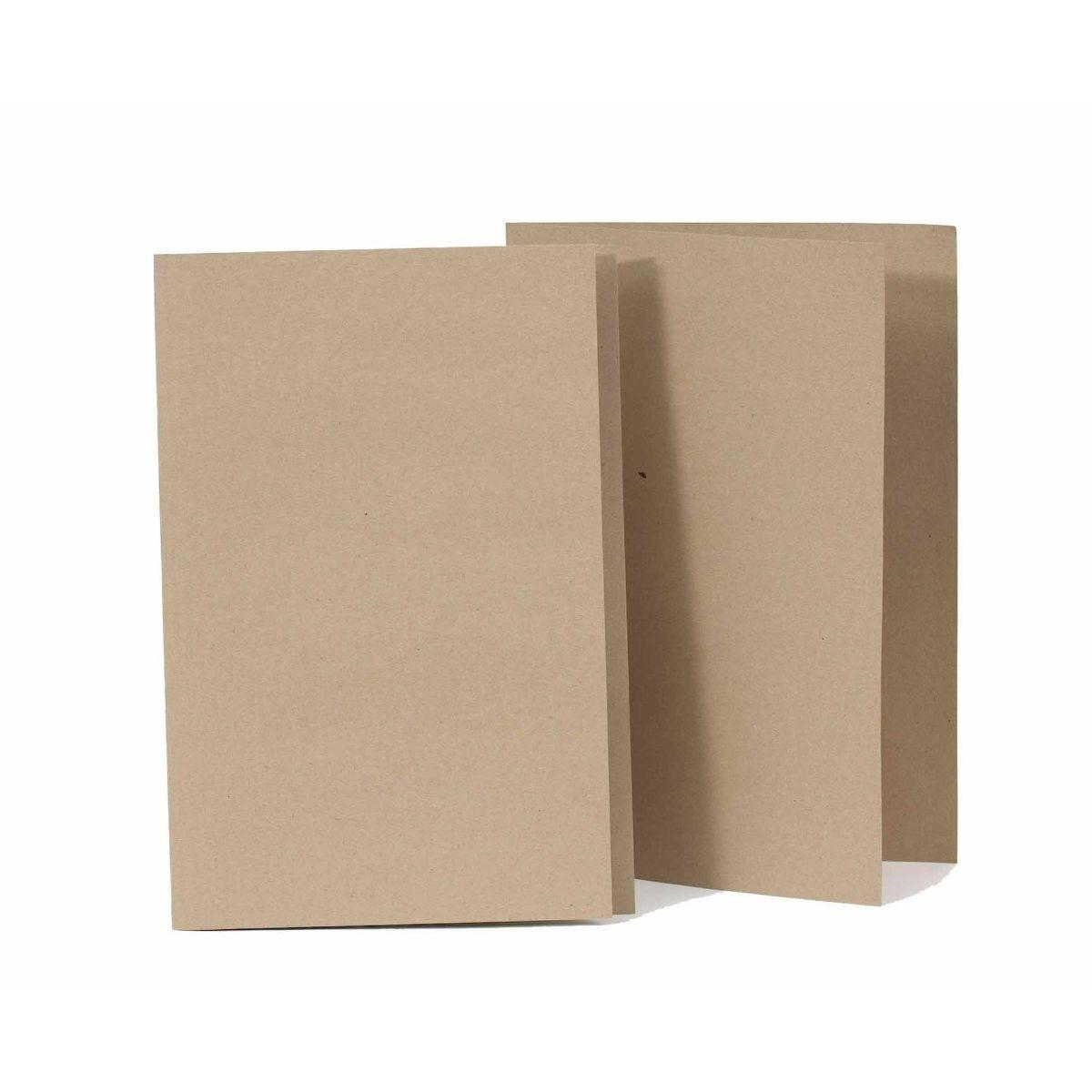 Exacompta Kraft Liner Foolscap Folder Pack of 100 170gsm Buff