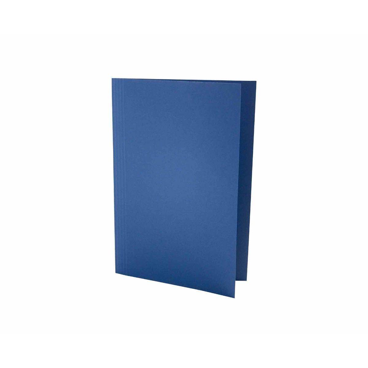 Exacompta Foolscap Folder Pack of 100 180gsm Blue