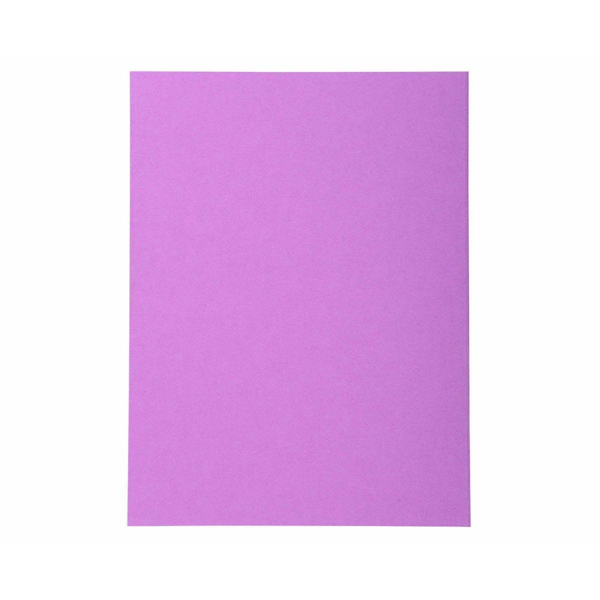Exacompta Forever Folders Square Cut A4 5 Packs of 100 Purple