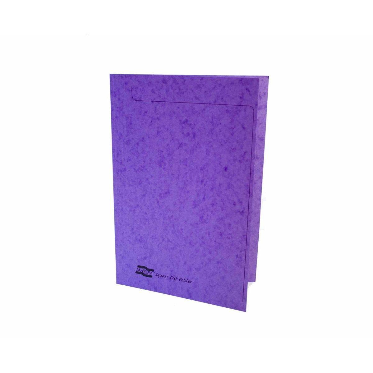 Exacompta Europa Square Cut Folder A4 Pack of 50 Lilac Purple