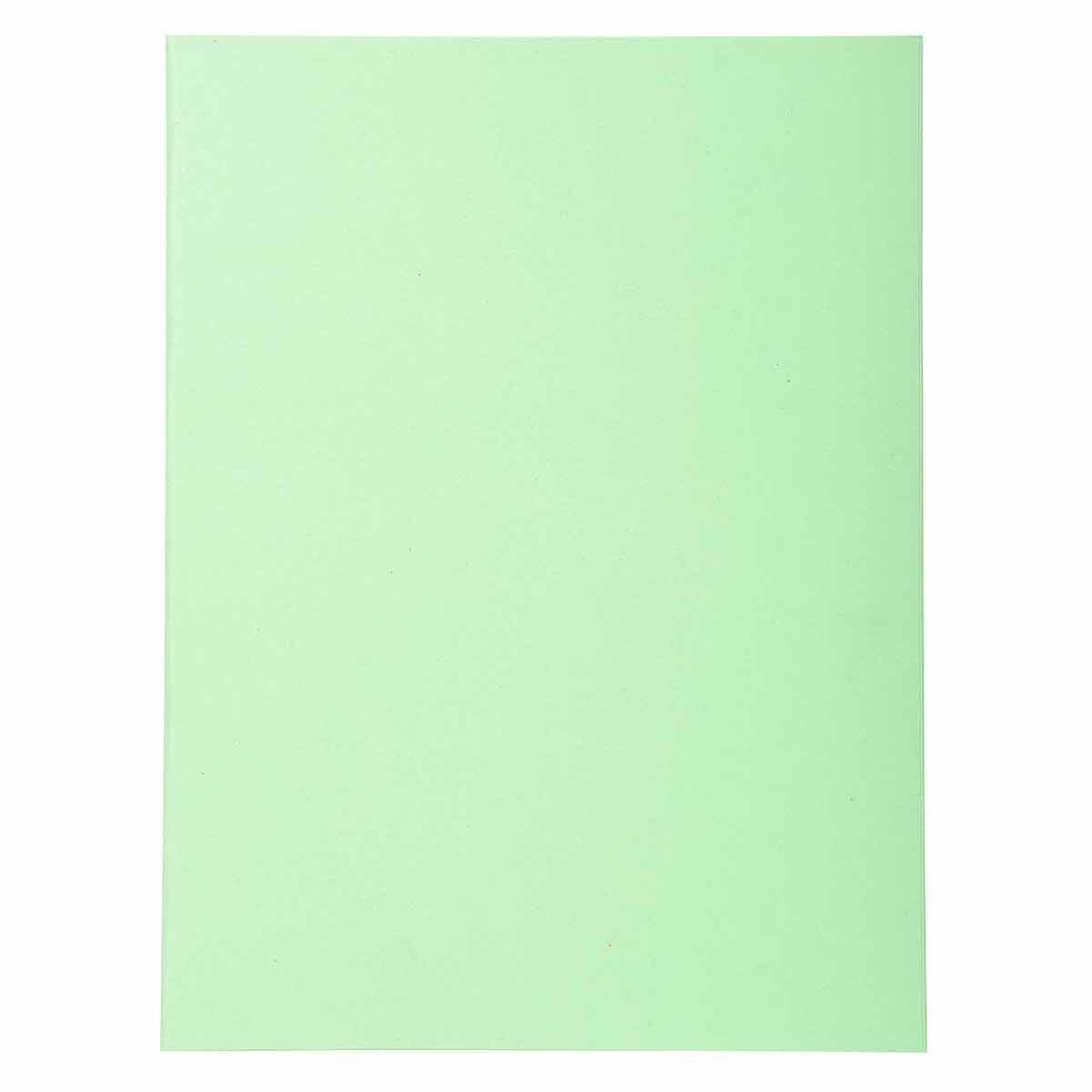 Exacompta Forever Square Cut Folders A4 170gsm 5 Packs of 100 Pale Green