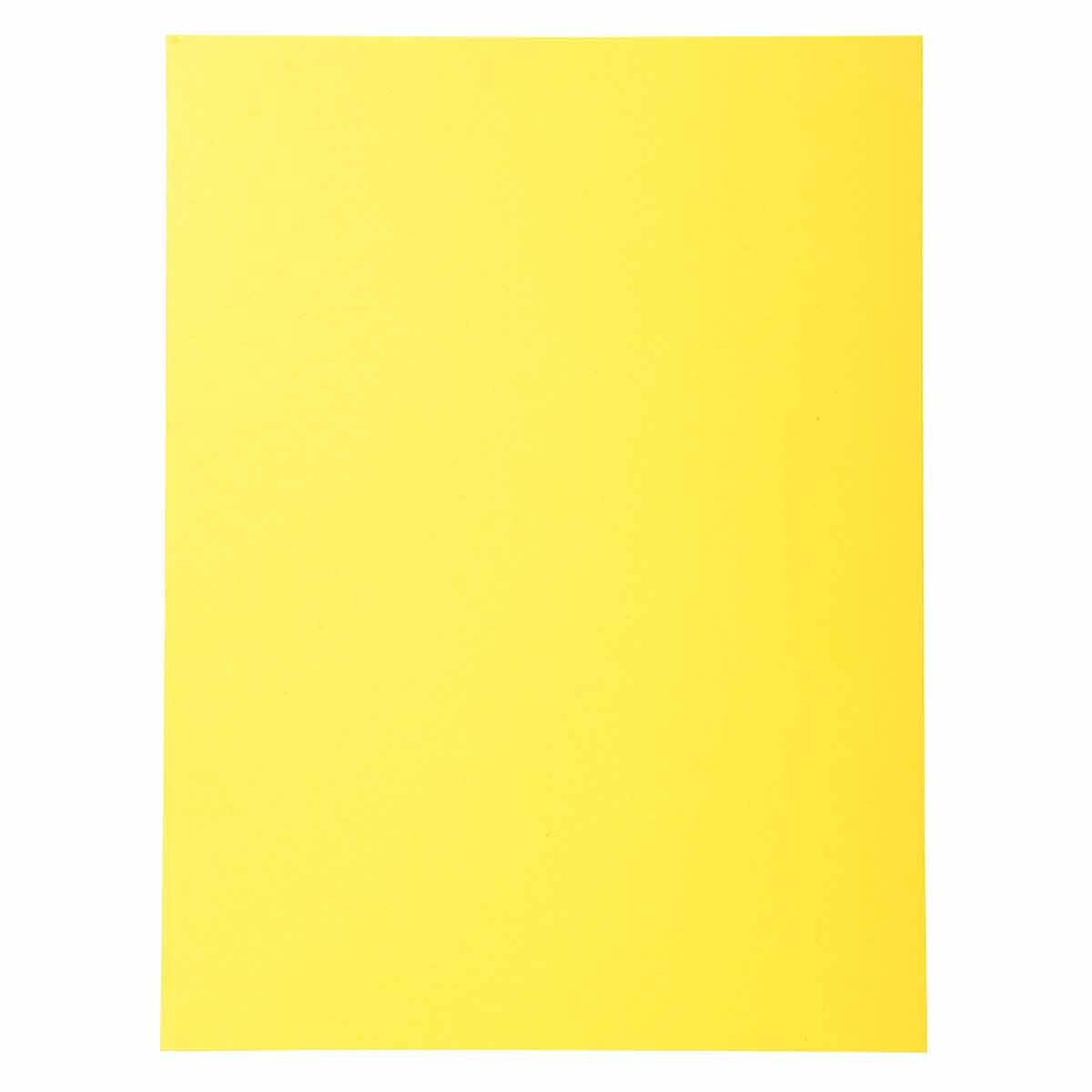Exacompta Forever Square Cut Folders A4 170gsm 5 Packs of 100 Yellow