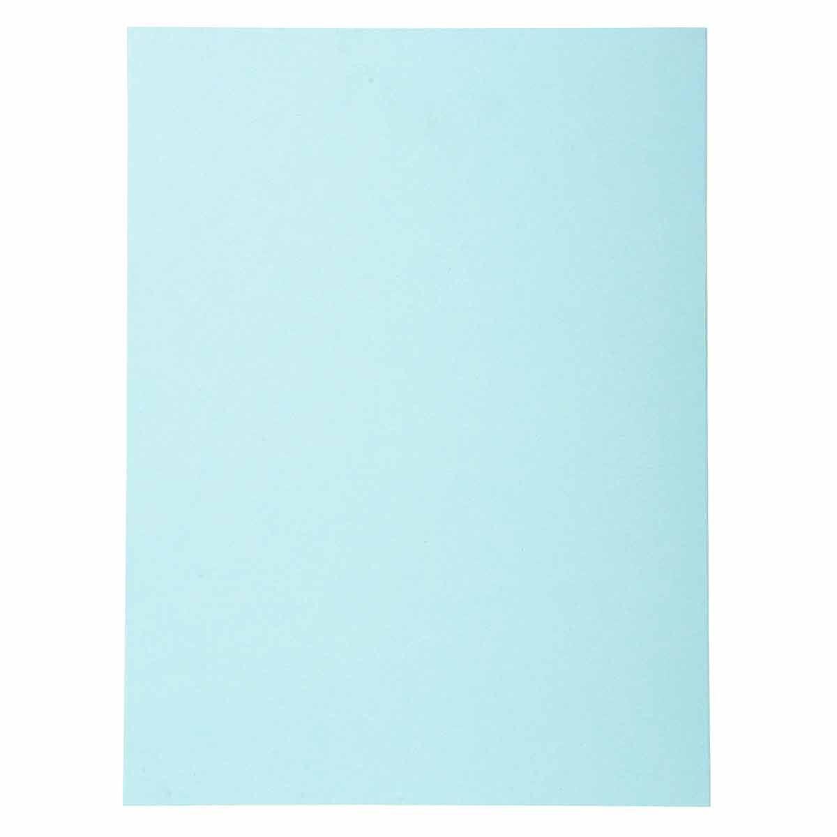 Exacompta Forever Square Cut Folders A4 170gsm 5 Packs of 100 Light Blue