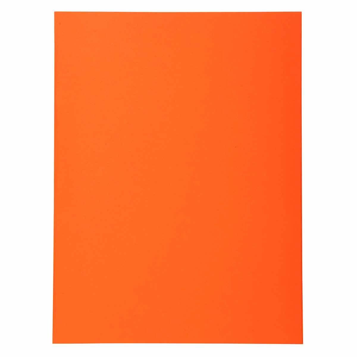 Exacompta Forever Square Cut Folders A4 170gsm 5 Packs of 100 Orange