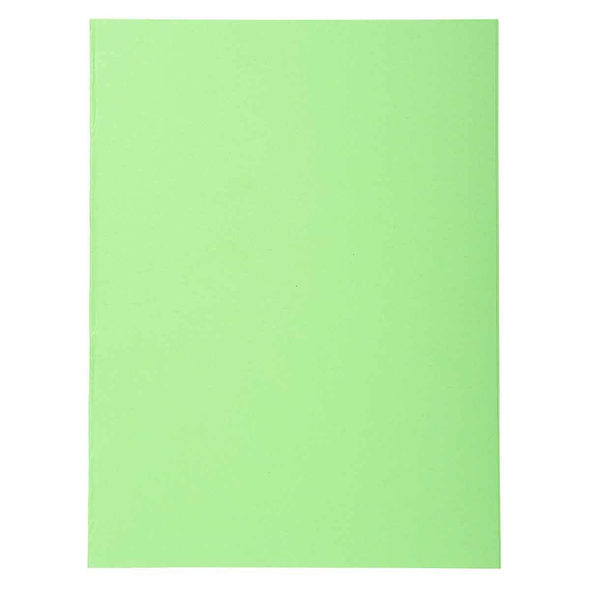 Exacompta Forever Square Cut Folders A4 170gsm 5 Packs of 100 Bright Green