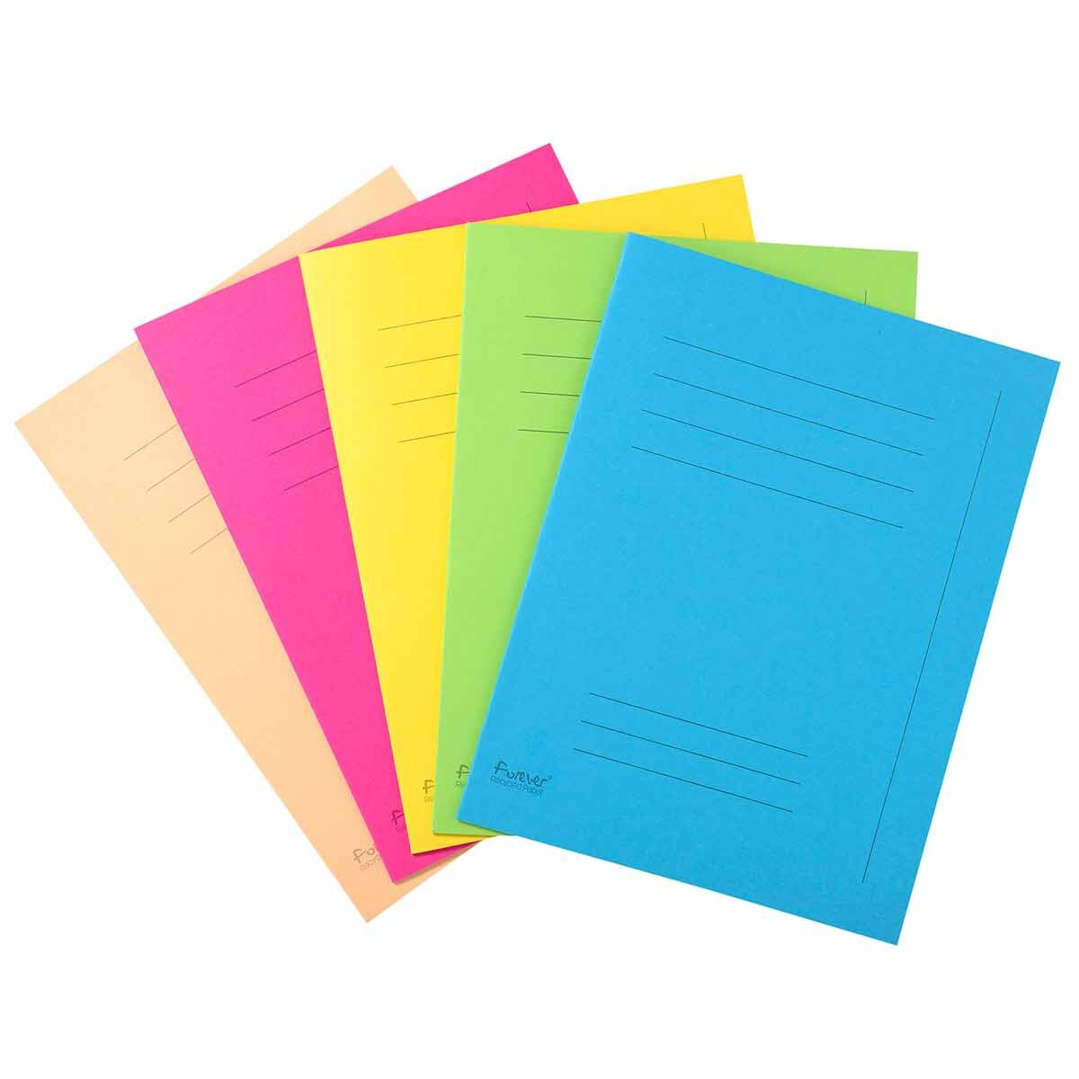 Exacompta Forever Square Cut Folders Printed Pack of 250 Assorted