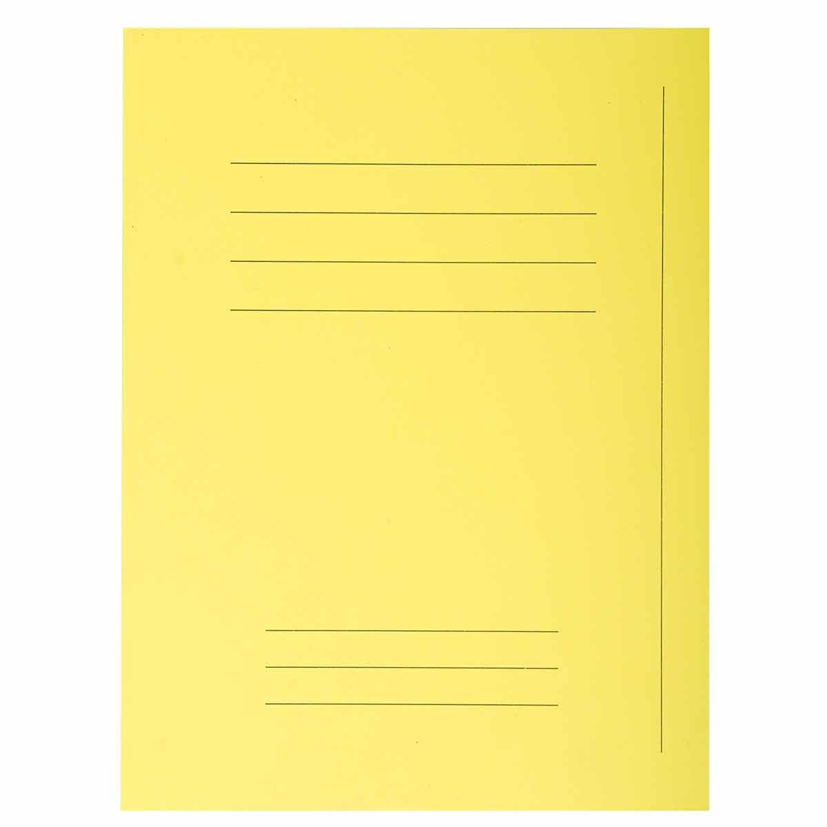 Exacompta Forever Square Cut Folders Printed Pack of 250 Yellow