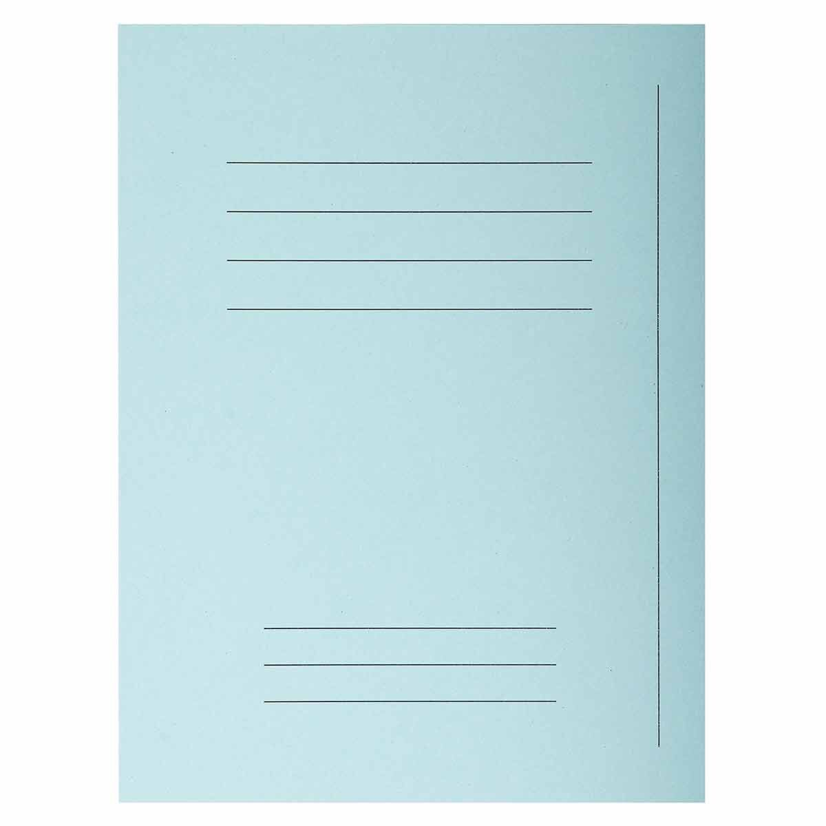 Exacompta Forever Square Cut Folders Printed Pack of 250 Light Blue