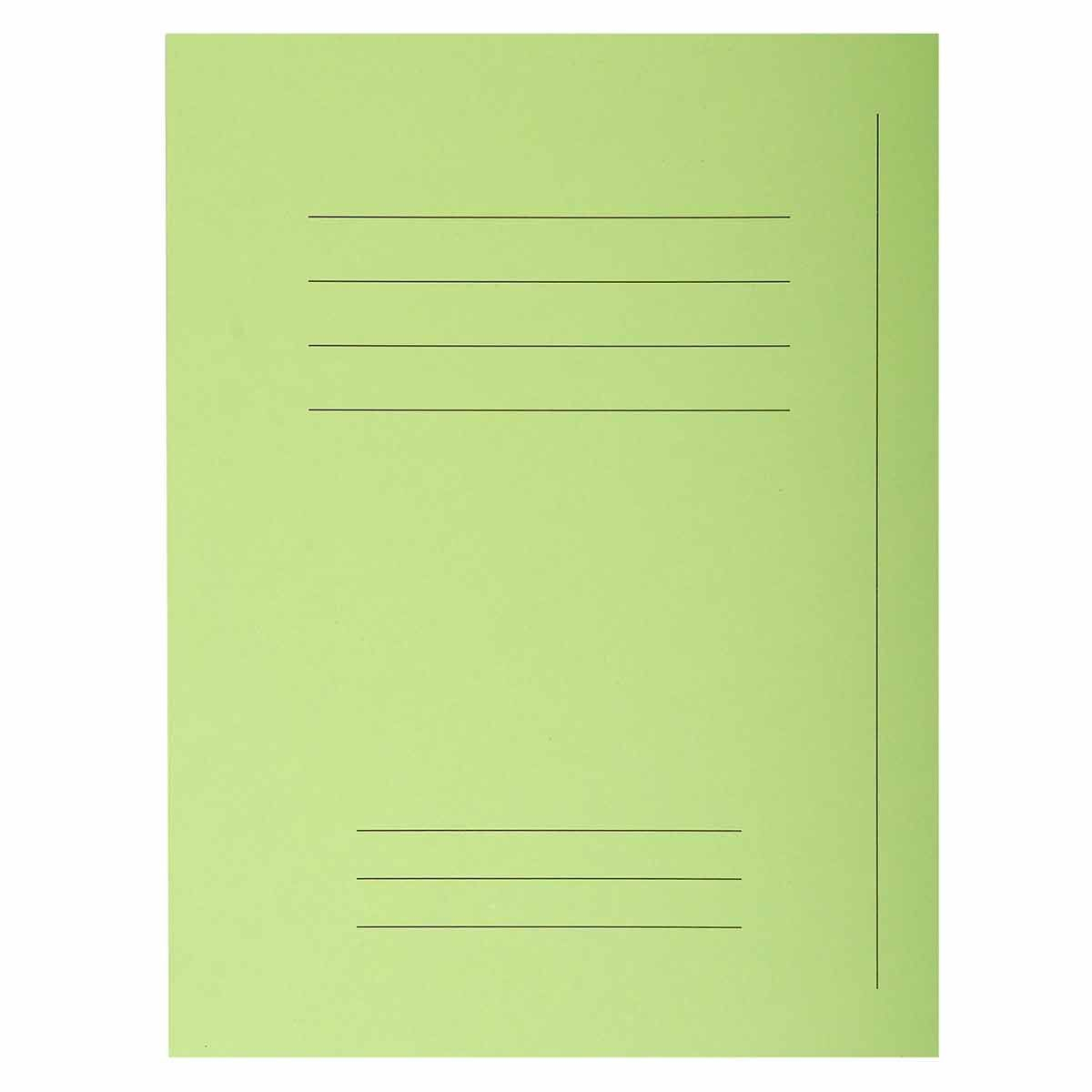Exacompta Forever Square Cut Folders Printed Pack of 250 Bright Green