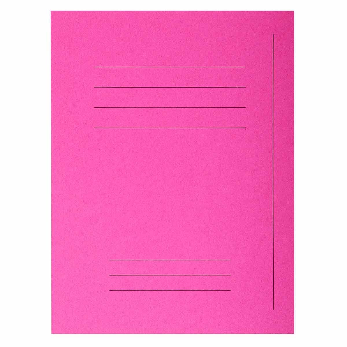 Exacompta Forever Square Cut Folders Printed Pack of 250 Fuchsia
