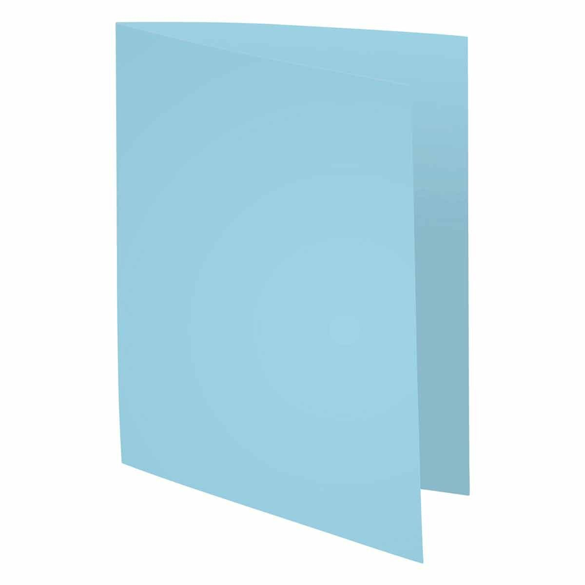 Exacompta Forever Square Cut Folders A4 220gsm Pack of 500 Light Blue