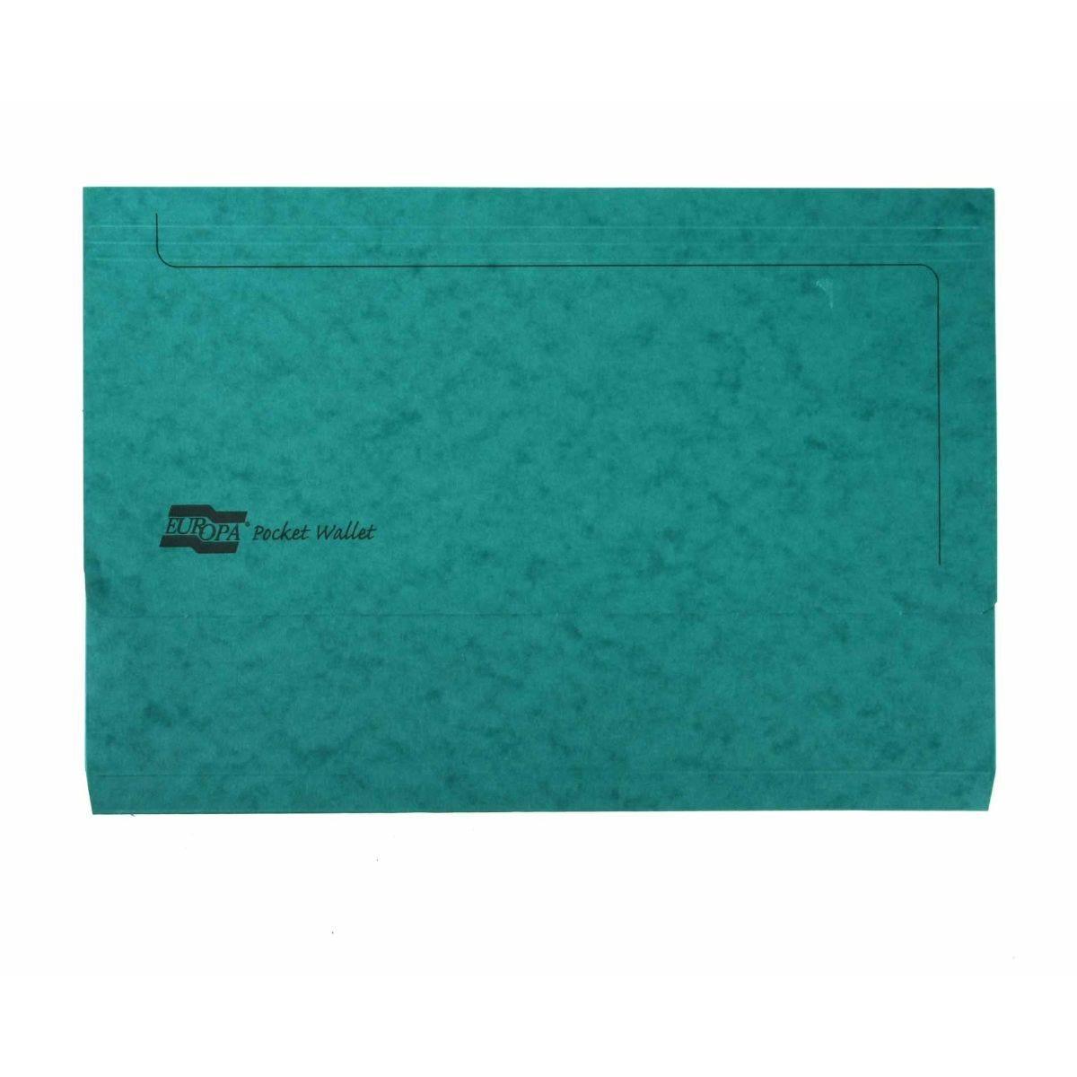Europa Pocket Wallet Foolscap Green