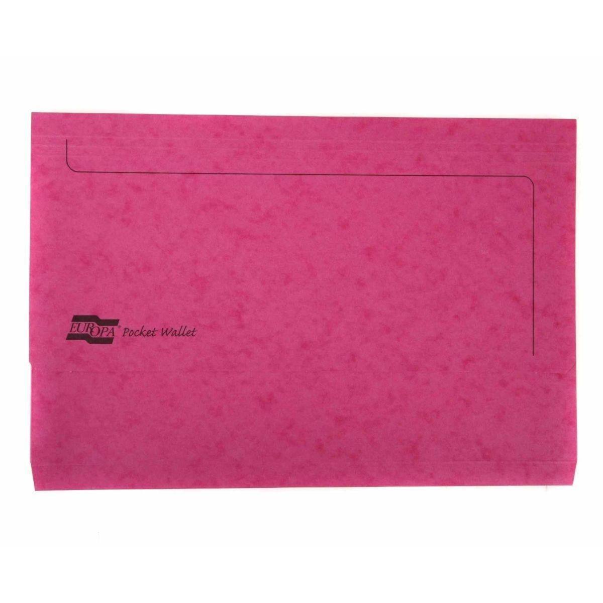 Europa Pocket Wallet Foolscap Pink