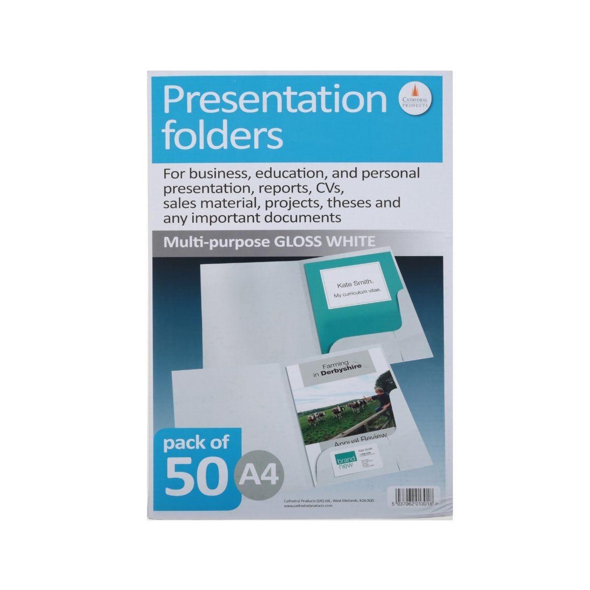 Corporate Presentation Folders A4 Gloss Pack of 50