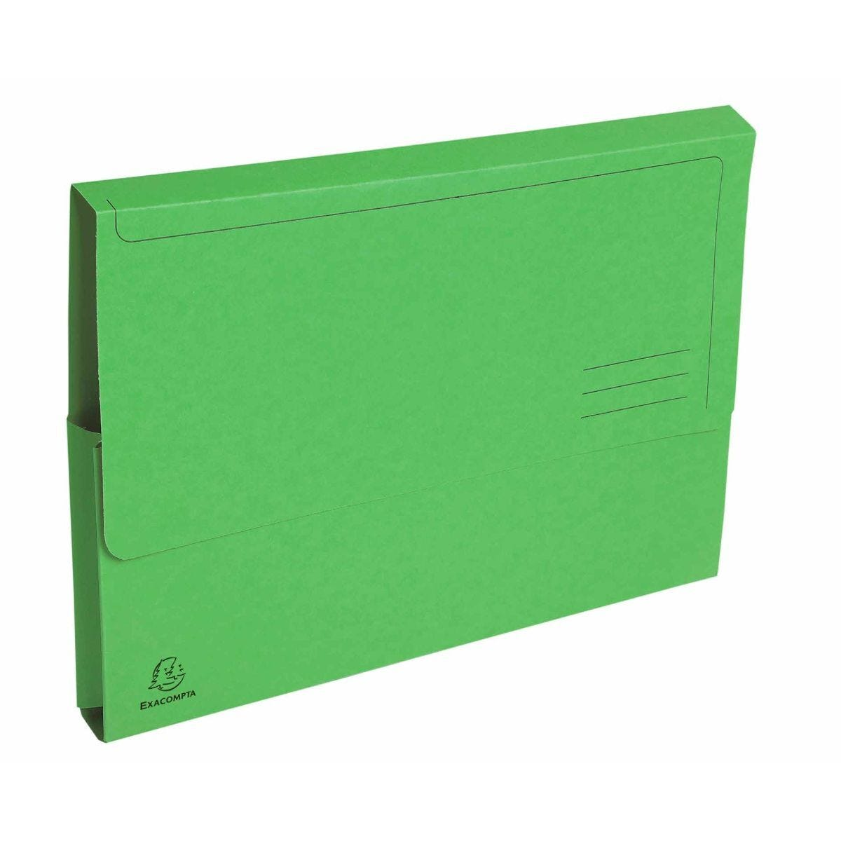 Exacompta Forever Document Wallets A4 2 Packs of 50 290gsm Green