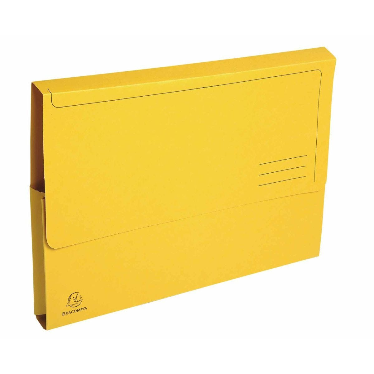 Exacompta Forever Document Wallets A4 2 Packs of 50 290gsm Yellow