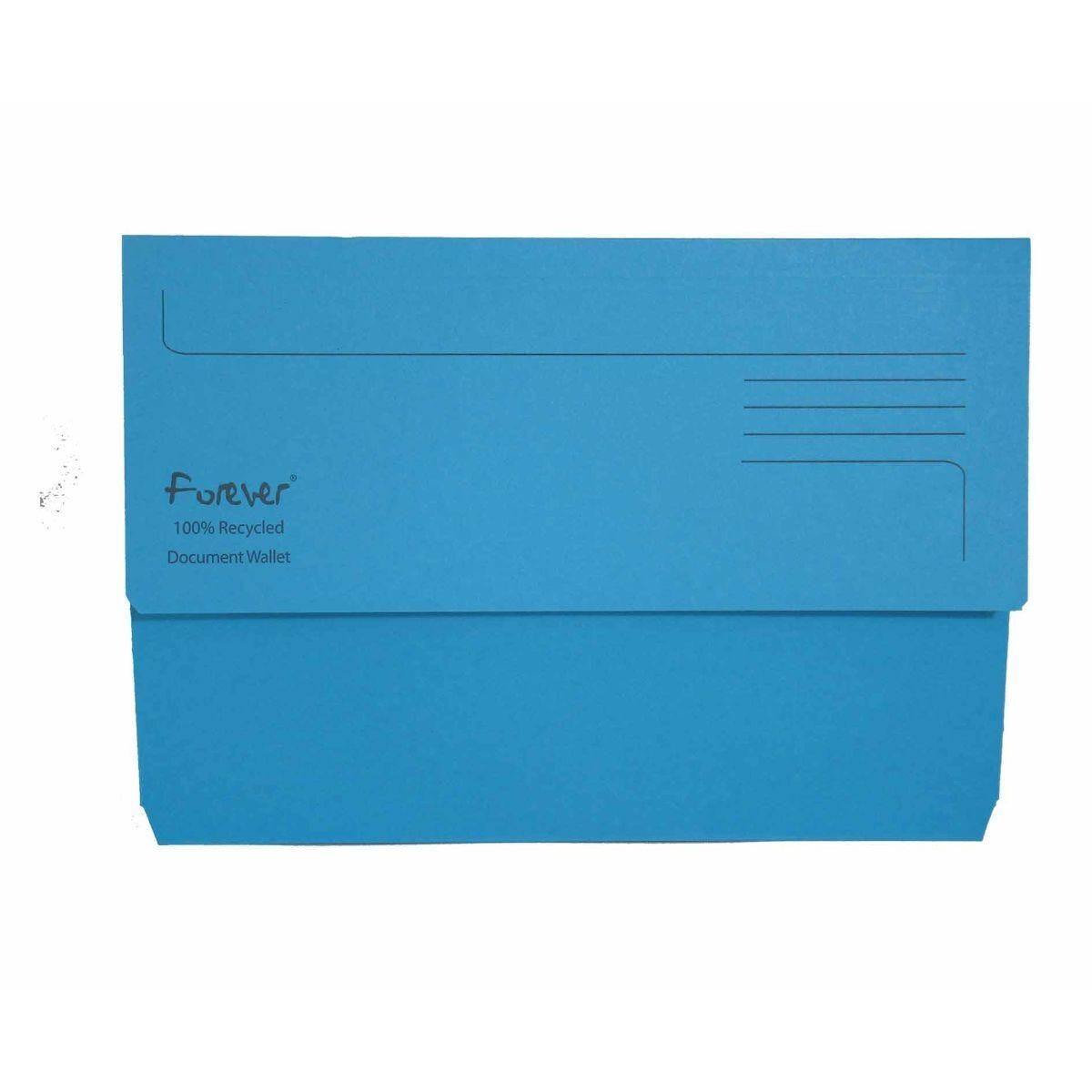 Exacompta Forever Document Wallet Foolscap Pack of 25 300gsm Blue