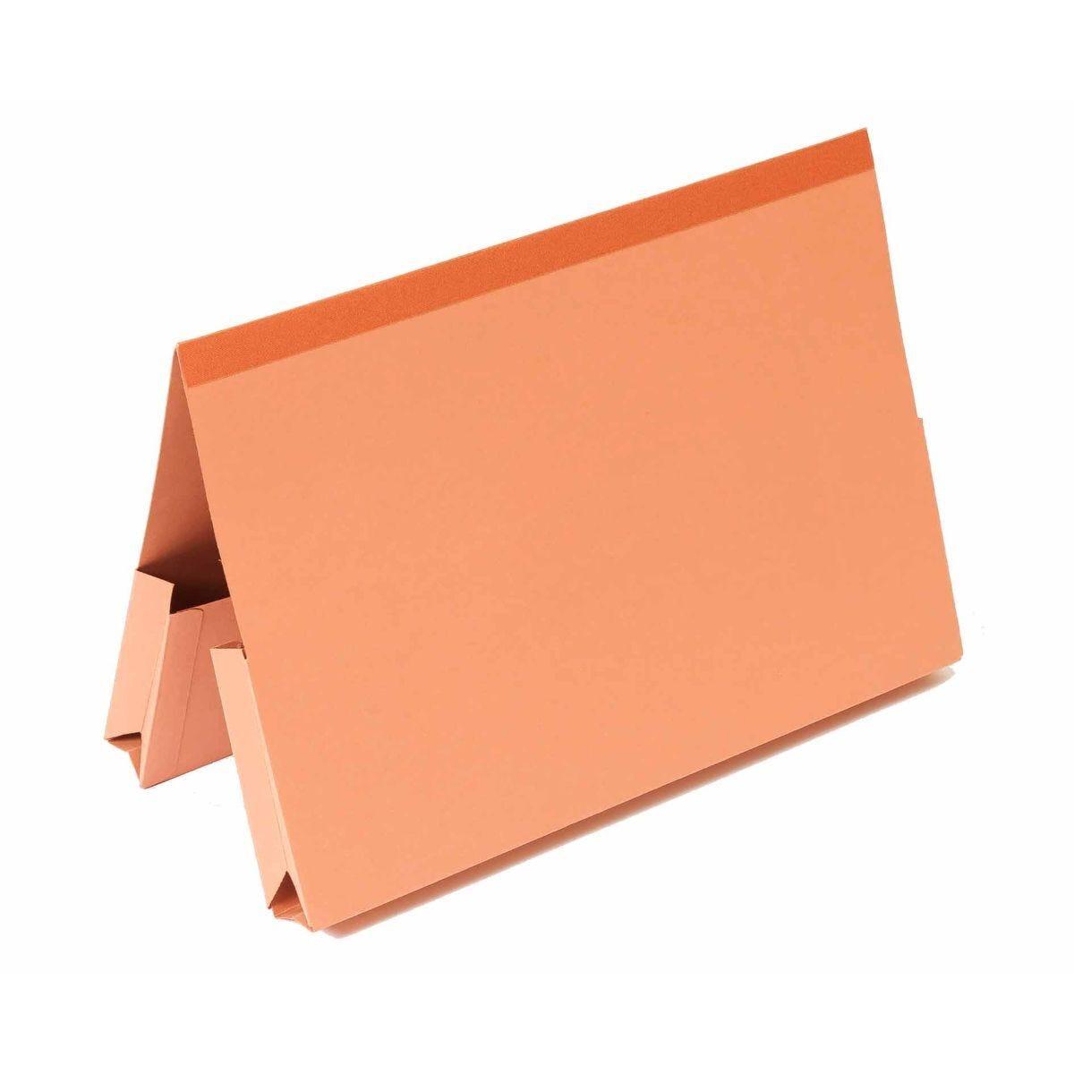 Exacompta Guildhall Reinforced Double Pocket Wallets Foolscap Pack of 25 315gsm Orange