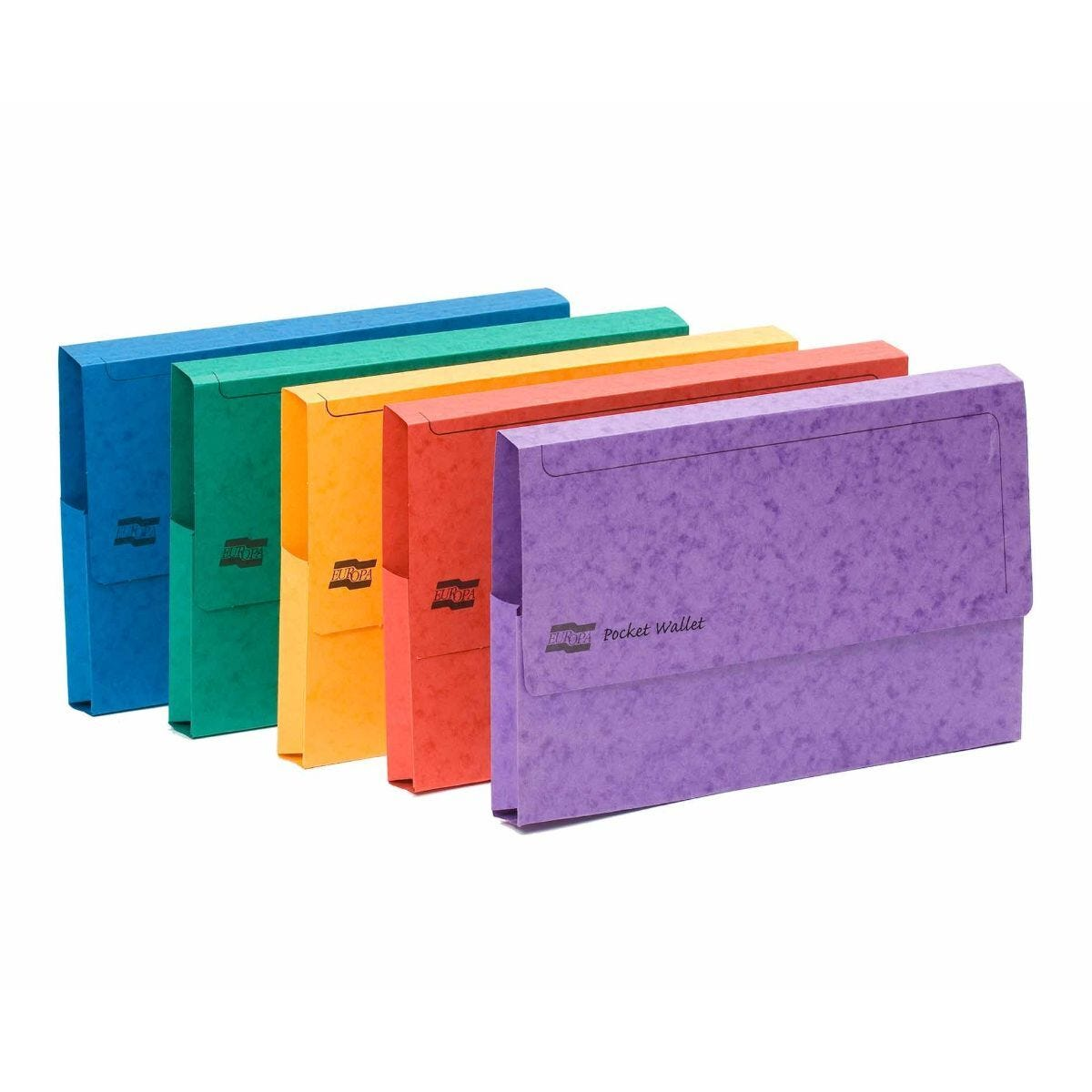 Exacompta Europa Document Wallet A3 Pack of 25 265gsm Assorted