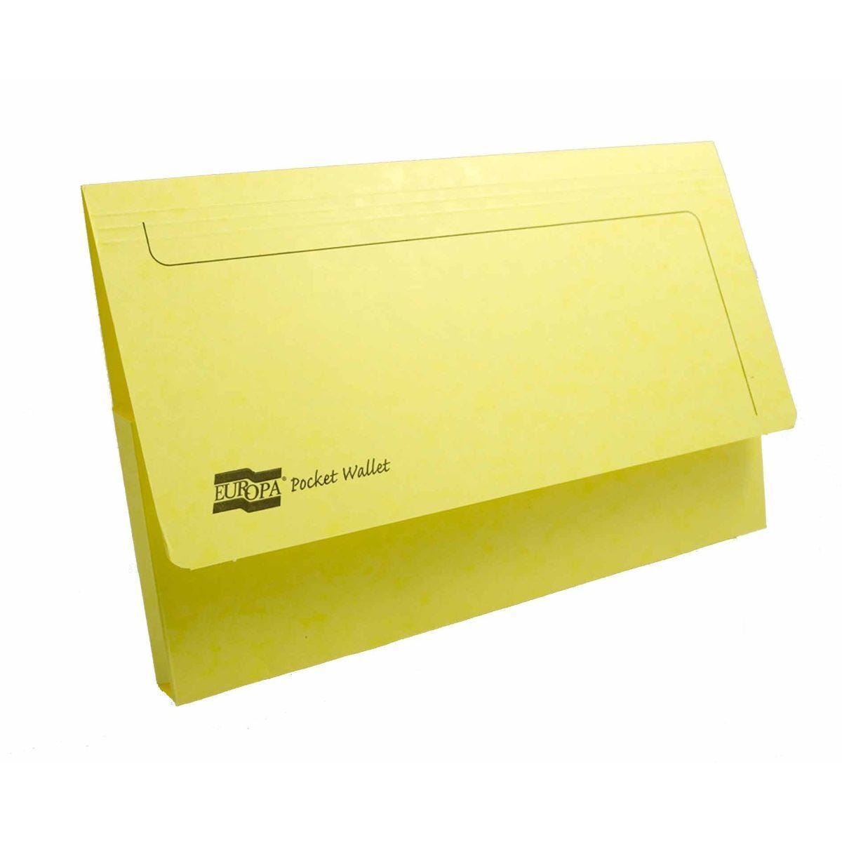 Exacompta Europa Document Wallet Foolscap Pack of 25 265gsm Lemon