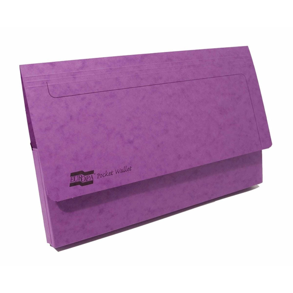Exacompta Europa Document Wallet Foolscap Pack of 25 265gsm Lilac