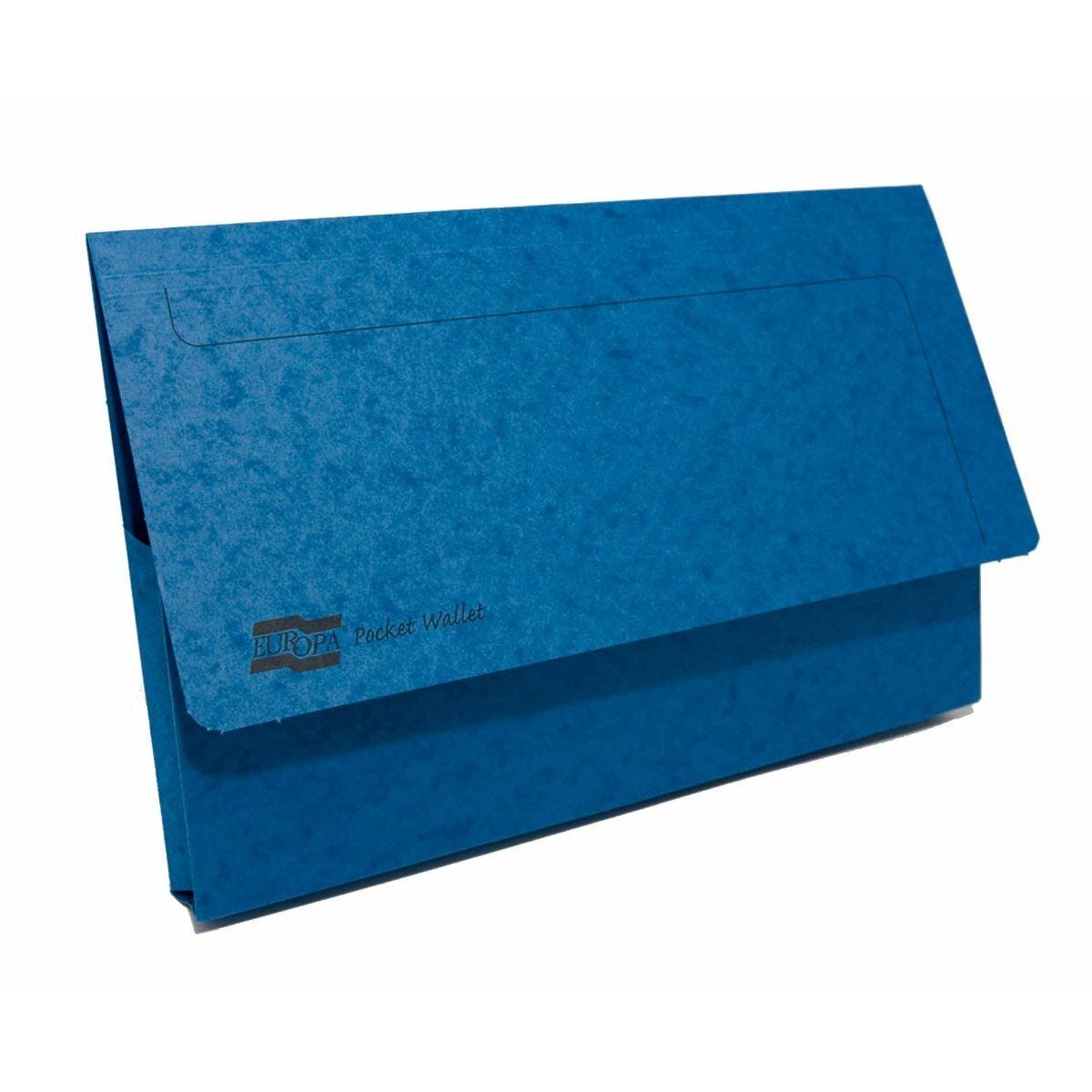 Exacompta Europa Document Wallet Foolscap Pack of 25 265gsm Blue