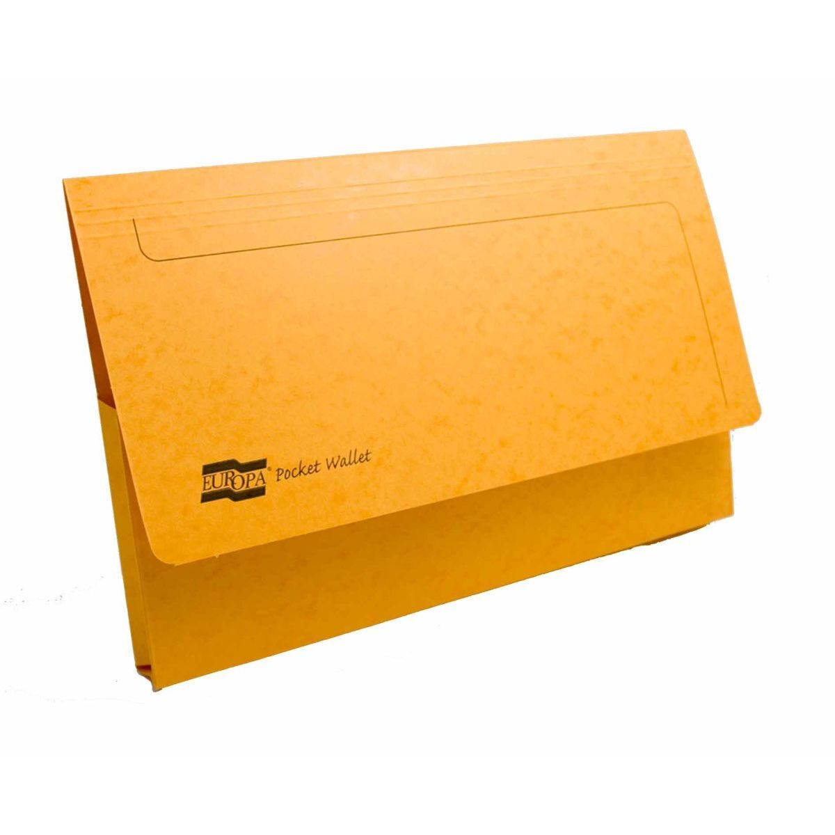 Exacompta Europa Document Wallet Foolscap Pack of 25 265gsm Yellow