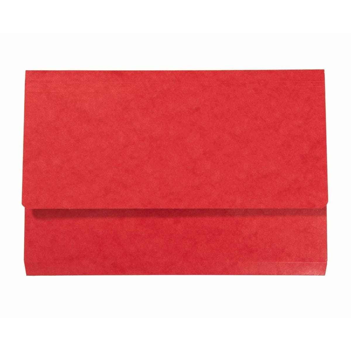 Exacompta Iderama Document Wallet Foolscap Pack of 10 265gsm Red