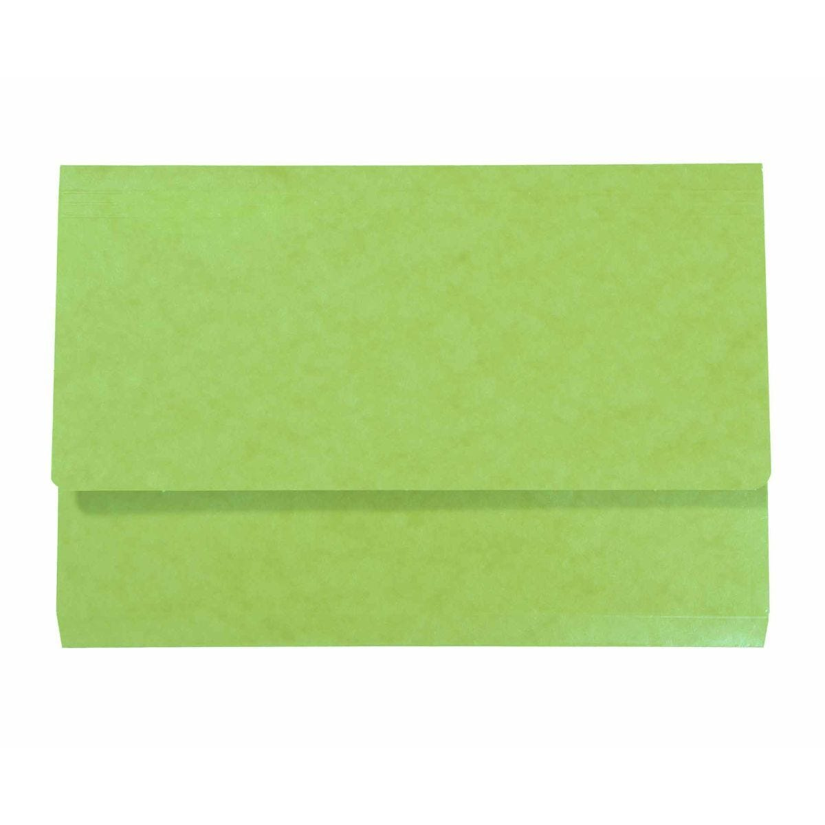 Exacompta Iderama Document Wallet Foolscap Pack of 10 265gsm Lime