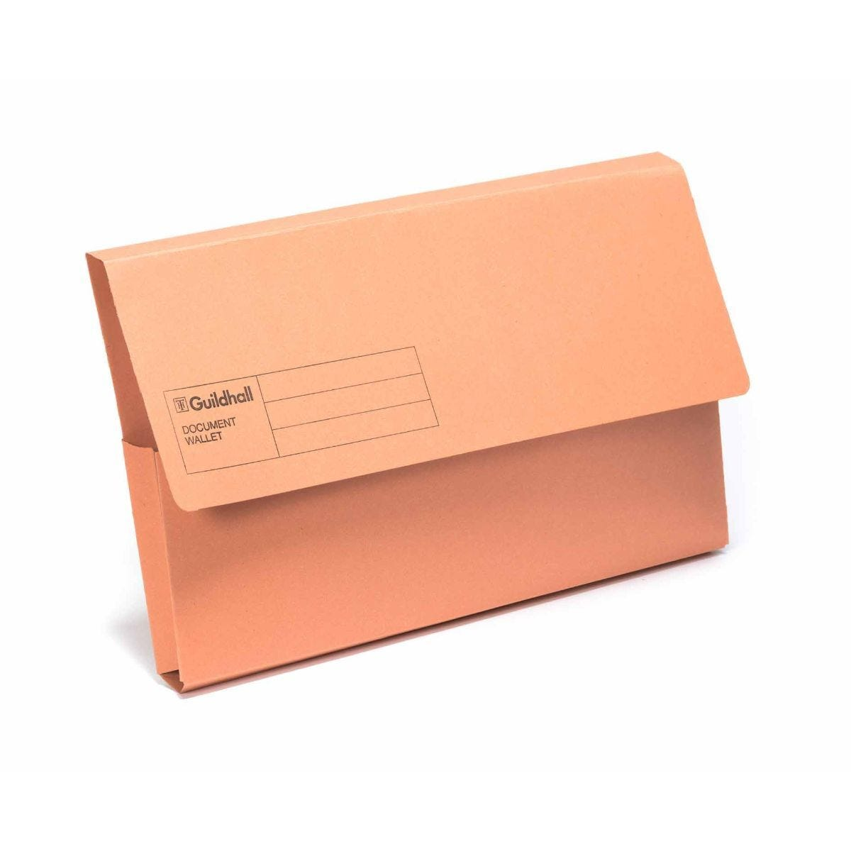 Exacompta Guildhall Document Wallet Foolscap Pack of 50 285gsm Orange