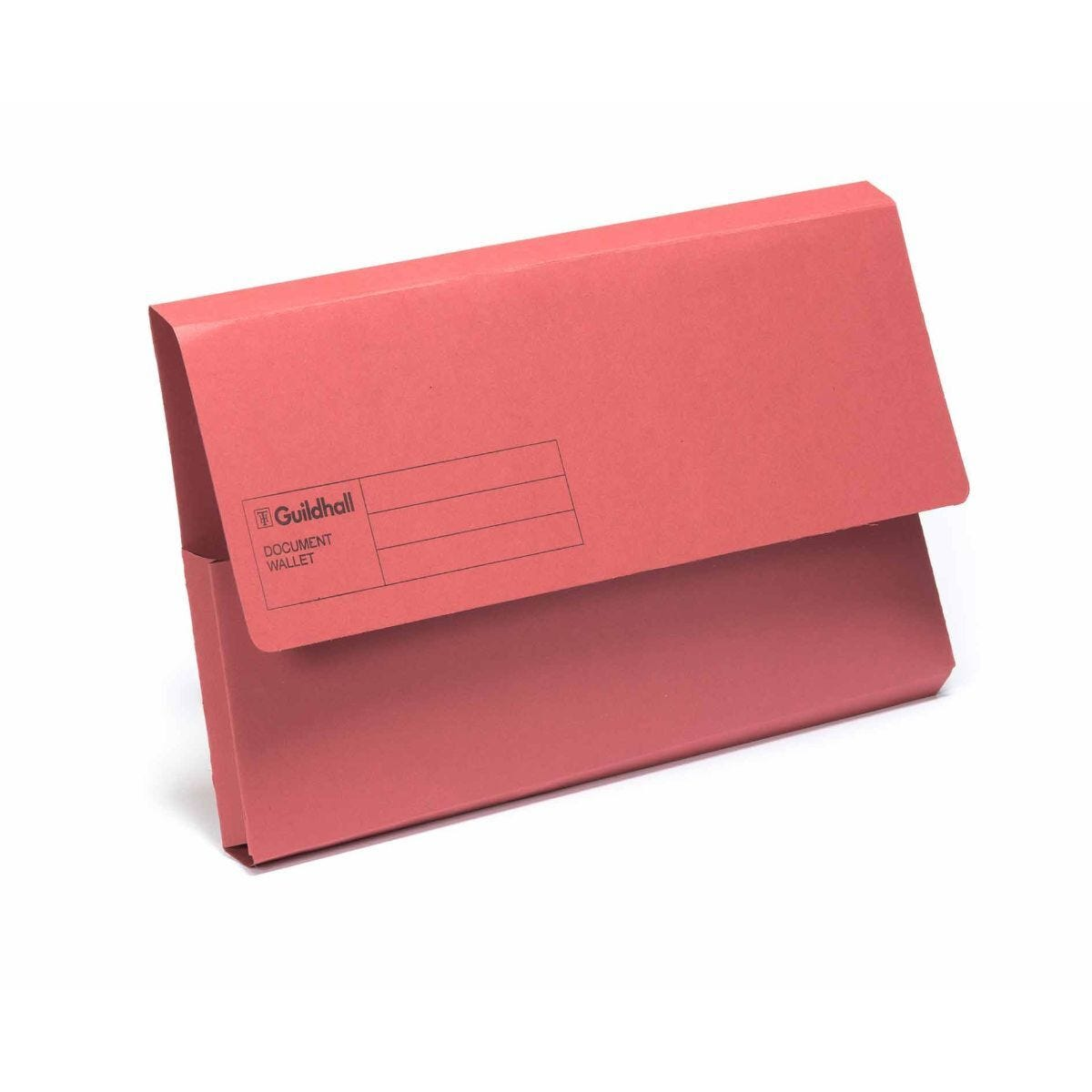 Exacompta Guildhall Document Wallet Foolscap Pack of 50 285gsm Red
