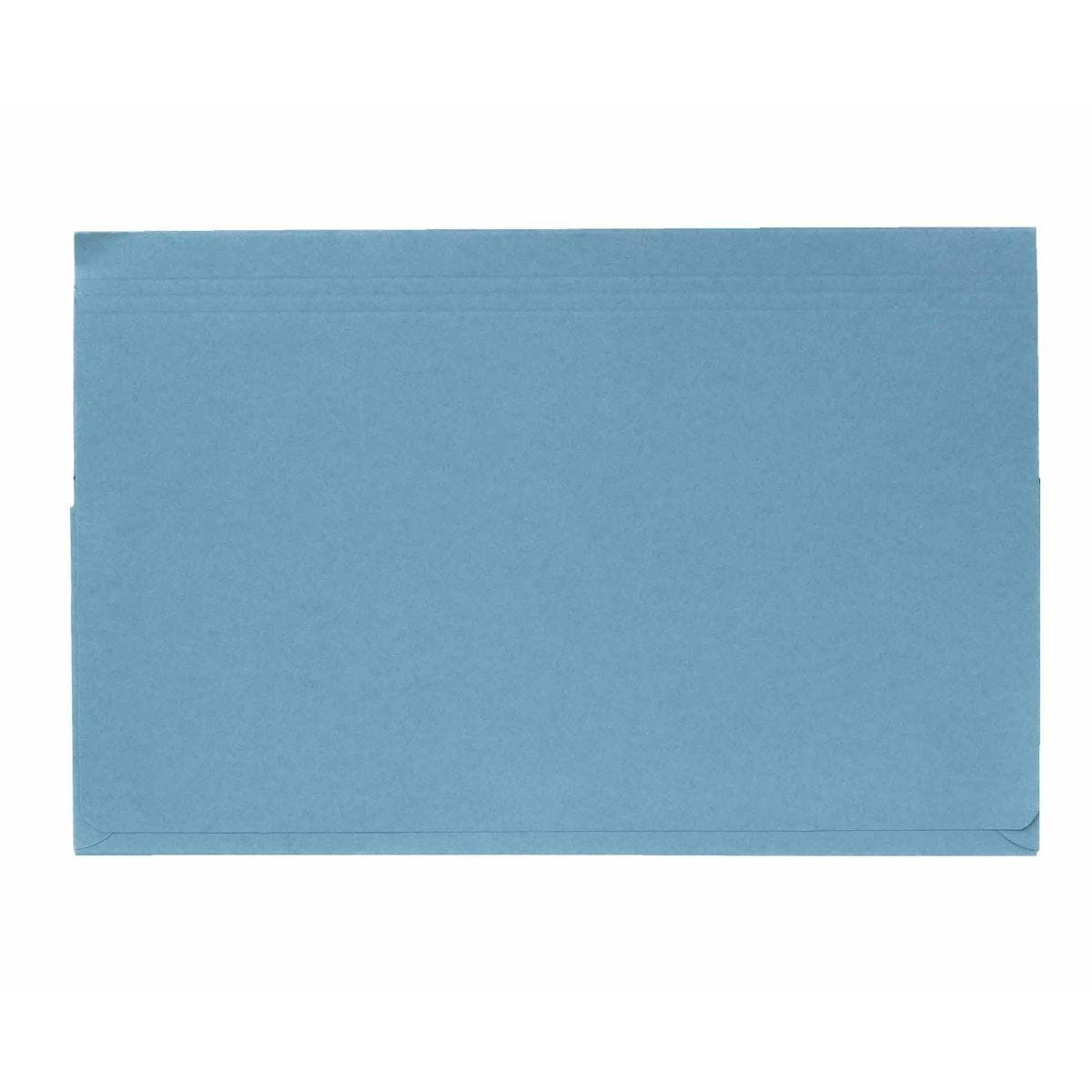 Exacompta Guildall Document Wallet Foolscap Pack of 50 315gsm Blue