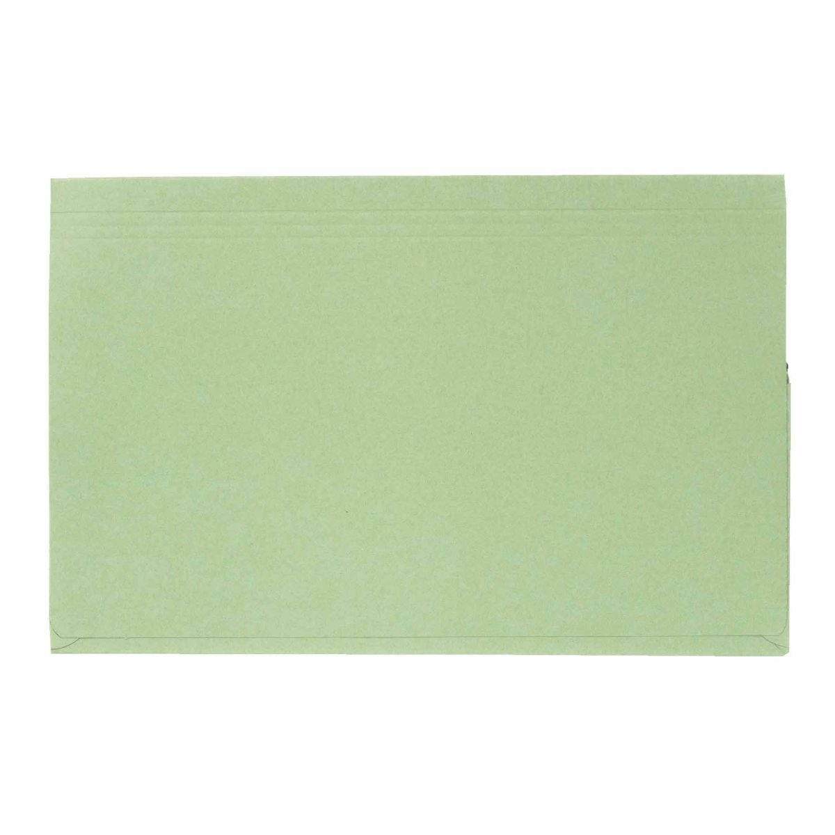 Exacompta Guildall Document Wallet Foolscap Pack of 50 315gsm Green