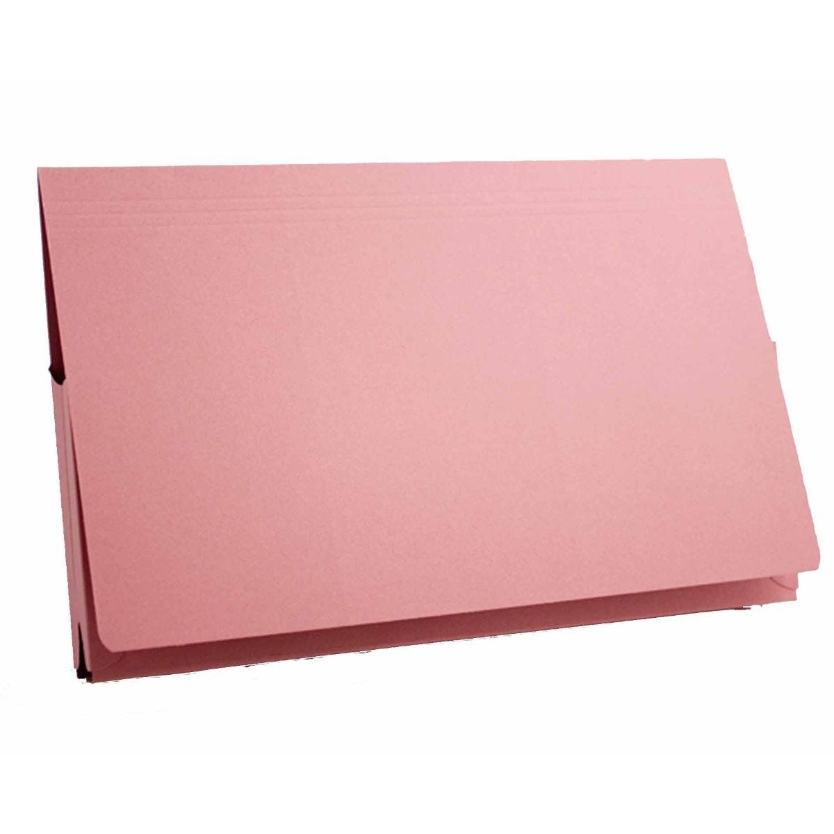 Exacompta Guildall Document Wallet Foolscap Pack of 50 315gsm Pink