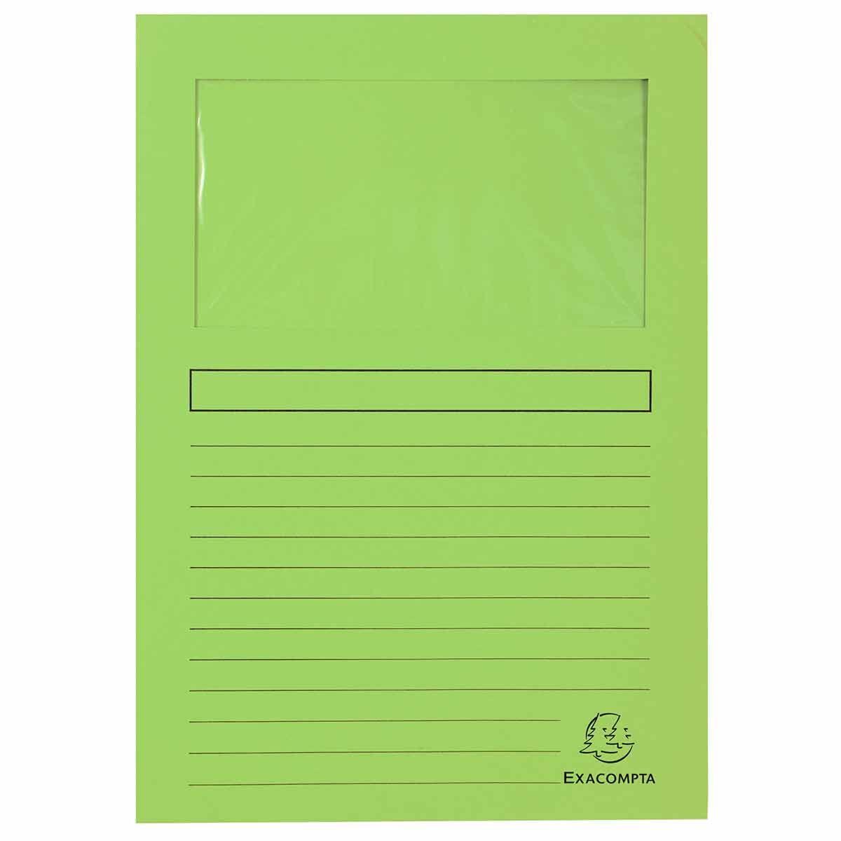 Exacompta Forever Window Folder Pack of 25 Light Green