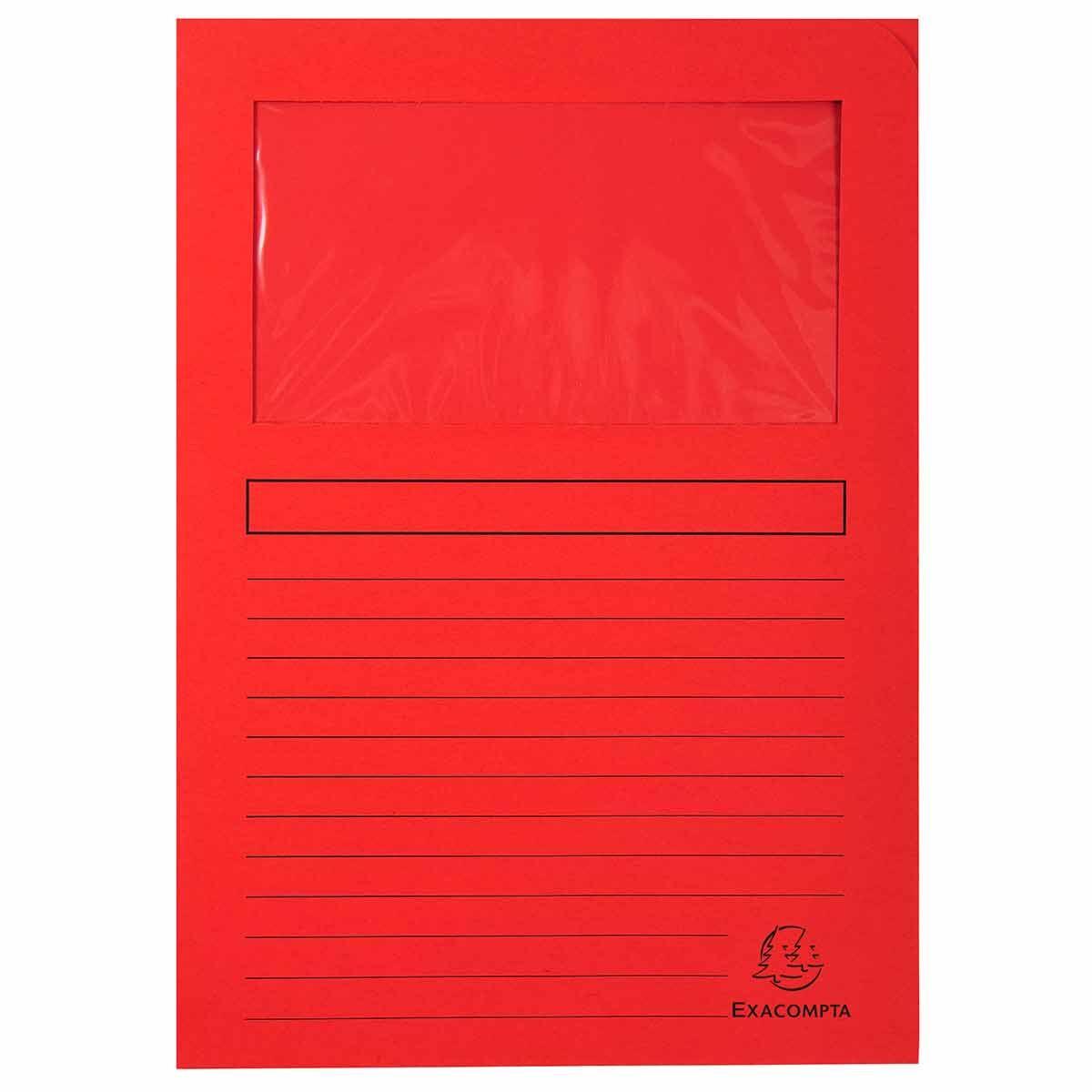 Exacompta Forever Window Folder Pack of 25 Red