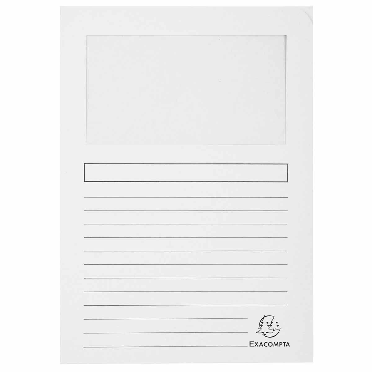Exacompta Forever Window Folder White Pack of 25