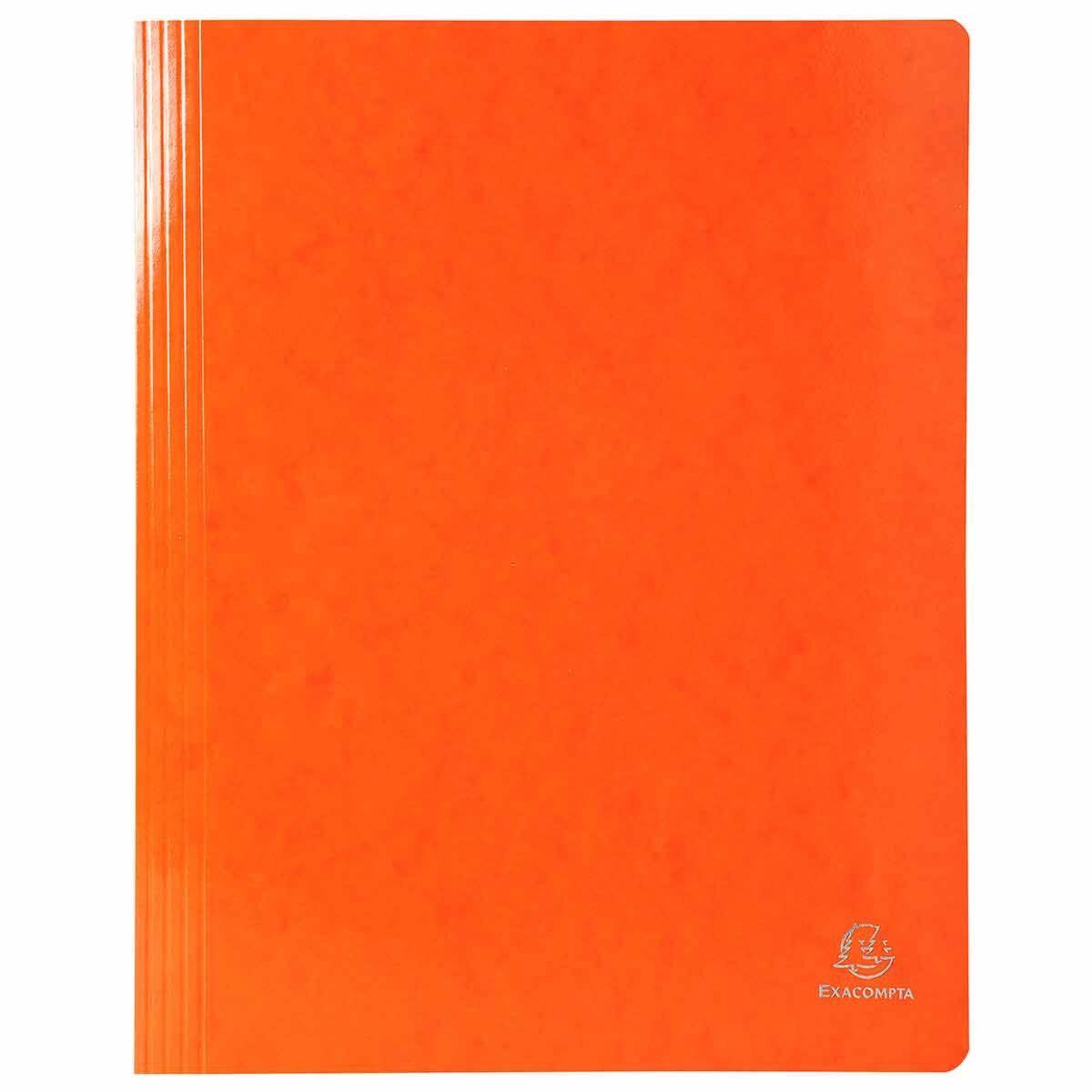Exacompta Iderama Flat Bar Files Flat A4 Pack of 25 355gsm Orange
