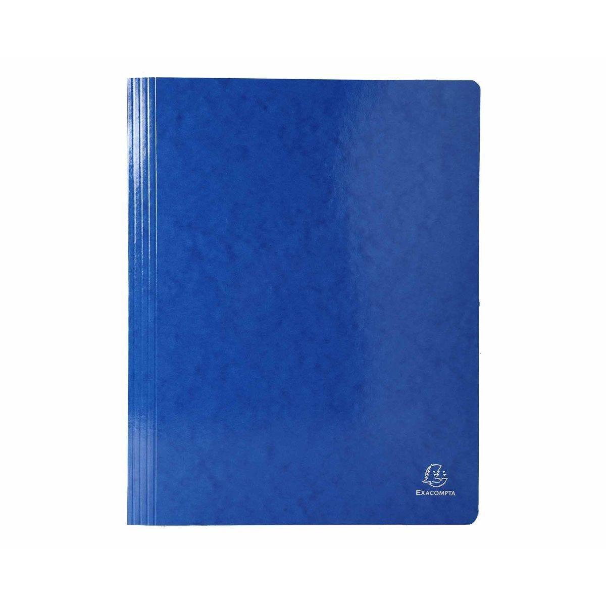 Exacompta Iderama Flat Bar Files Flat A4 Pack of 25 355gsm Blue