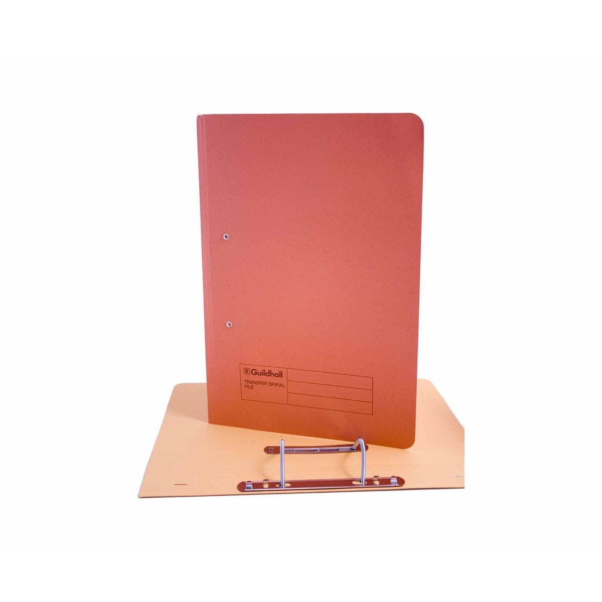 Exacompta Guildhall Spiral File Foolscap Pack of 50 315gsm Orange