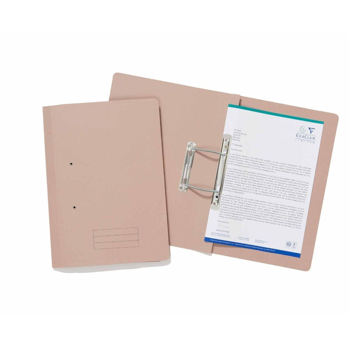 Exacompta Guildhall Spiral File Foolscap Pack of 25 285gsm Buff