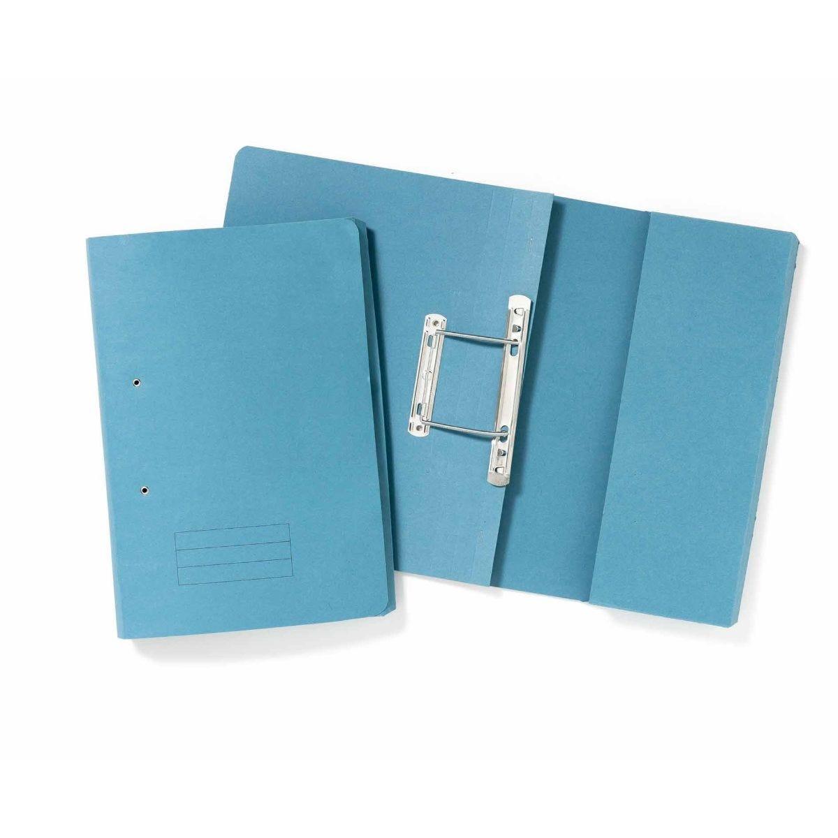 Exacompta Guildhall Pocket Spiral Files Foolscap Pack of 25 285gsm Blue